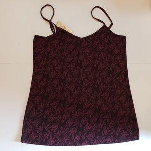 Ann Taylor Loft Camisole Top Floral Print Med NWT